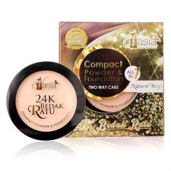 Harga V ASIA 24K Bedak Ratu Compact Powder & Foundation (Natural Beige)