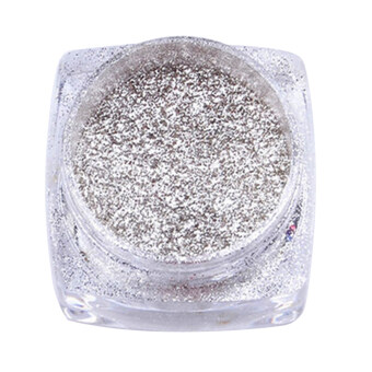 Harga Mirror Chrome Effect Dust Magic Glitter Shimmer Nail Art Powder (Silver)