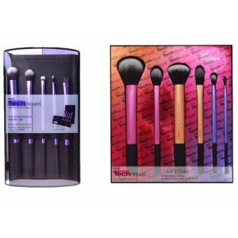 Harga Real Techniques Make-Up Brushes Set 5Pcs+6Pcs Combination Sales