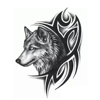 Harga Jetting Buy Large Wolf Head Waterproof Temporary Removable Tattoo Body Arm Leg Art Sticker