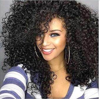 Harga Deep Curl Full Lace Wig Virgin Brazilian Hair Glueless Full Lace Human Hair Wigs with Baby Hair Lace Front Wig