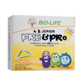 Harga Bio Life A.B Junior Pre&Pro Biotic Twin Pack 2x50 Sachets