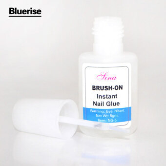 Harga WXS 5g Instant Nail Glue Glitter Acrylic Rhinestones Decoration With Nail Art UV Gel Nail Tips Glue Fast Drying Manicure Nail Glue for False Nails