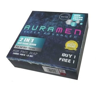 Harga Aura Men Super Advanced Face Soap