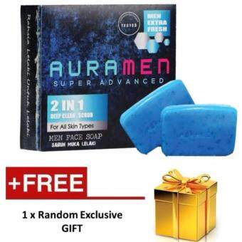 Harga Aura Men Super Advanced Auramen Face Soap 2 in 1 with extra gift