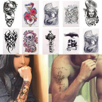 Harga Hight Quality Store New Sexy Large Temporary Tattoo Arm Body Art Removable Waterproof Sticker