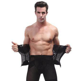 Harga Man Body Shaper Belt Waist Trimmer Support Belt Modern Corset Girdle Belts Shaper Men Girdle Slim Belt Supports-XL