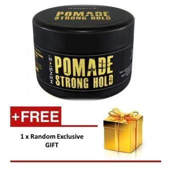 Harga NEW Mensive POMADE Strong Hold Hair Style - 150gm (PROMO) with extra gift