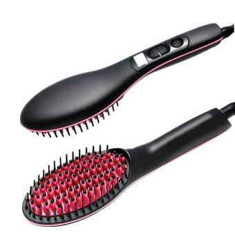 Harga Professional Automatic Straightening Irons Comb With LCD Display Electric Straight Hair Comb Straightener Iron Brush