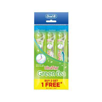 Harga ORAL-B Ultra Thin Toothbrush Green Tea B2F1