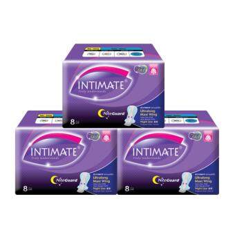 Intimate Nitelong Maxi Wing 350mm 8'pcs - 3 pkts
