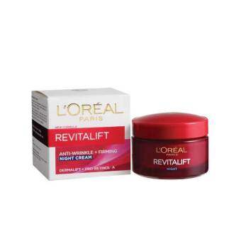 Harga **L'Oreal Paris Revitalift Anti-Wrinkle + Firming Derma Night Cream 50ml -F