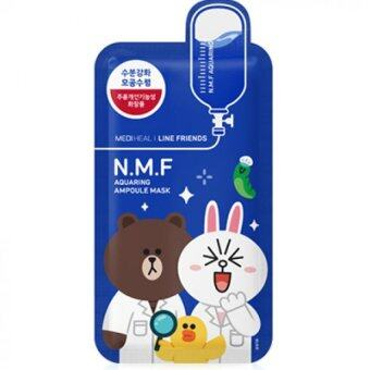 Mediheal With Line Friends NMF Aquaring Ampoule Mask 10 Pcs