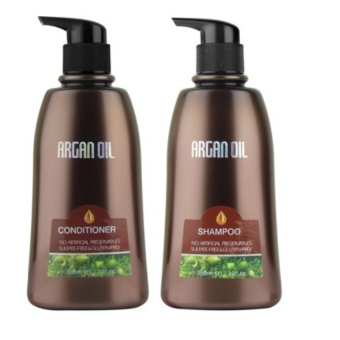 Morocco Argan Oil Value Set # Shampoo 350ml + Conditioner 350ml