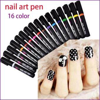 Harga Nail Art Pen for 3D Nail Art DIY Decoration Nail Polish Pen Set 3DDesign Nail Beauty Tools Paint Pens #12