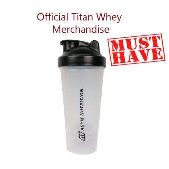 Official Titan Whey Protein Shaker/Blender/Mixer 20oz/600ml (Black) by Agym Nutrition