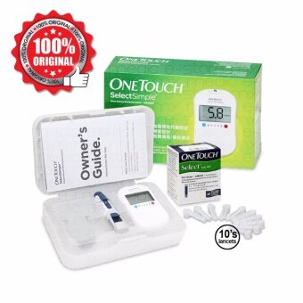 Harga One Touch Select Simple Blood Glucose Monitor With 10s Strips And 10s Lancet - MINI STARTER KIT (Expiry: 12/2017)