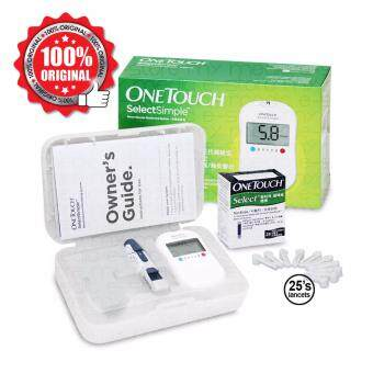 Harga One Touch Select Simple Blood Glucose Monitor With 25s Strips And25s Lancet