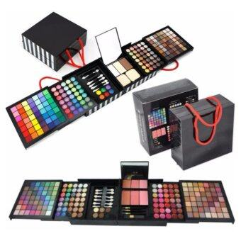 OS Professional High Quality 177 Colour Eyeshadow Blush Lipstick Foundation Cosmetics Make Up Palette Book With Brush Set