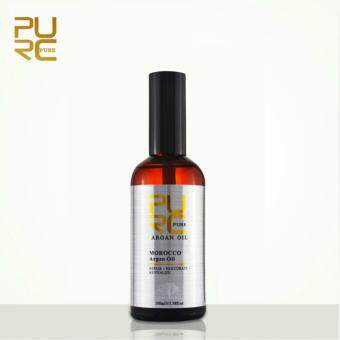 PURC Moroccan Pure Argan Oil 100ml hair care and protects damaged hair for moisture hair salon