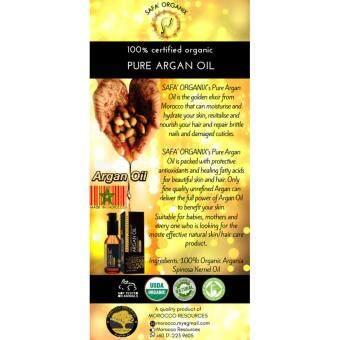 Safa' Organix 100% Pure Organic Argan Oil Made in Morocco ( 30ml ) |Comes with Free Gift (Random Souvenir of Morocco)
