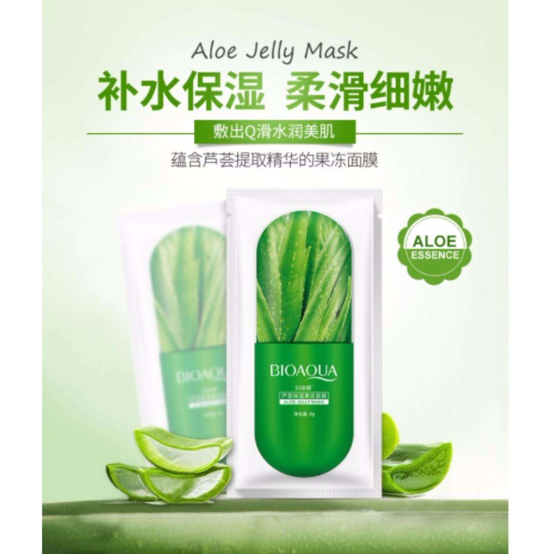 Semakan Semula Sinma Bioaqua Aloe Essence Jelly Facial Mask 5 Aloevera Cheapest Price Sheets Vera