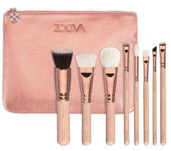 Special offer!8pcs makeup brush set brushes, with leather bag Luxury Makeup Brush Eyeshadow.Foundation brush, eye shadow brush, blush brush, lip brush