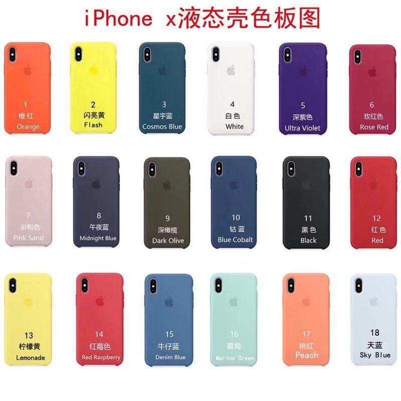 new style 03cf7 0d64d For IPhone X Case Silicone Full Protective Have Logo Original Official  Phone Case For Apple Cover
