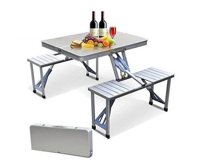Outdoor Portable Camping Picnic Integrated Folding Table Chair Sets Desk Chairs Set Lazada Ph