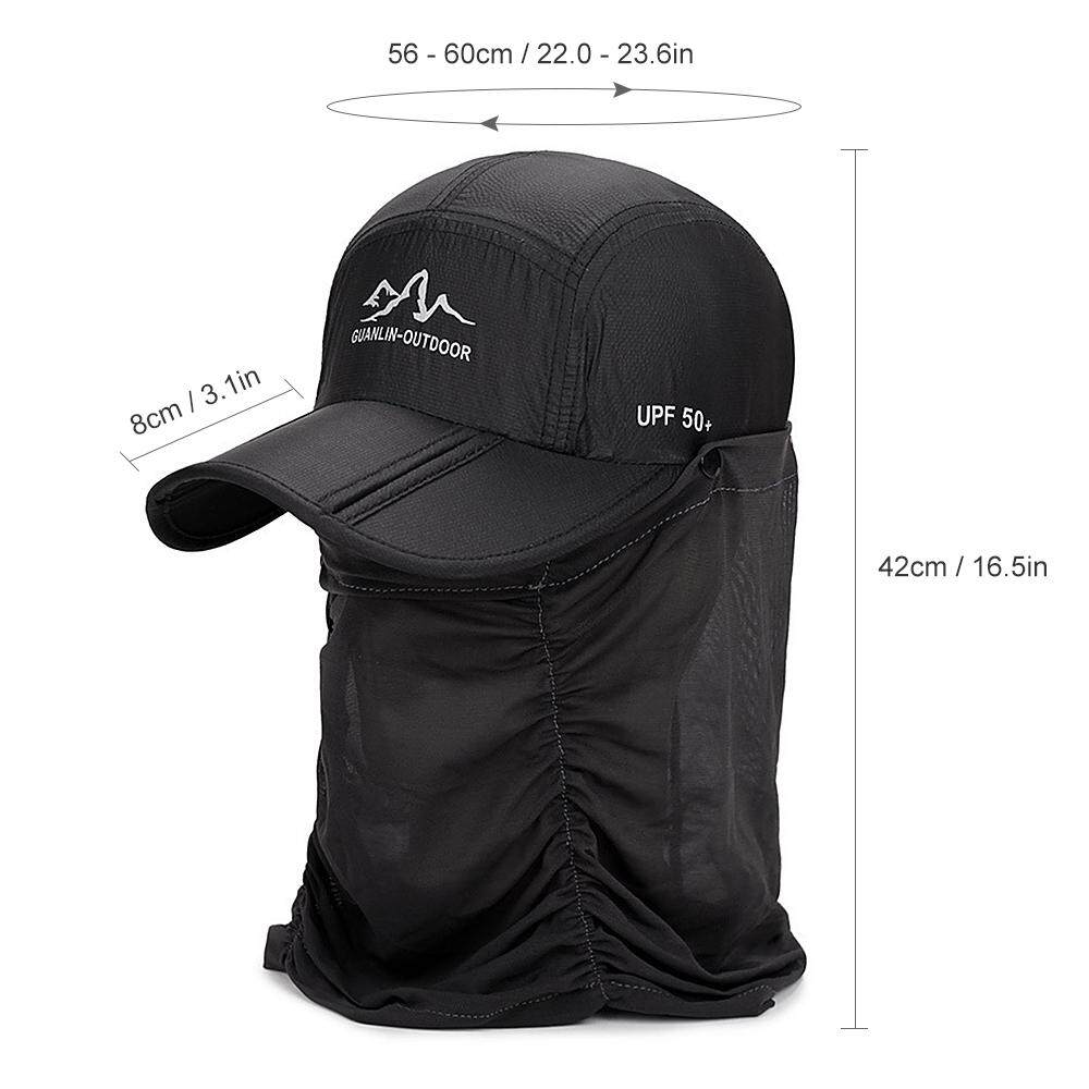 02e48c9d8 Outdoor UV Protection Folding Sun Hat Fishing Hiking Sun Cap with Face Neck  Flap Cover