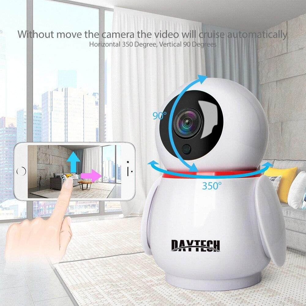 DAYTECH IP Camera CCTV Wireless WIFI Camera 720P/1080P Auto Motion Tracking  Night Vison YCC365 Plug APP Control(DT-C8822)