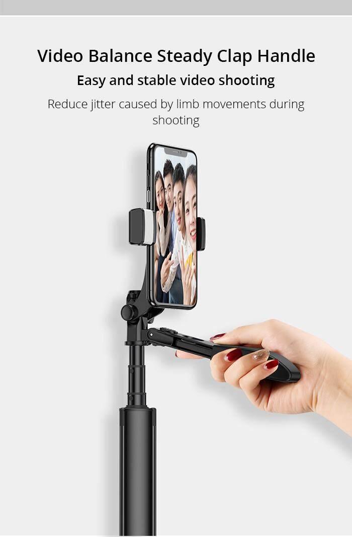 ✅Selfie Stick video stabilizer tripod for iPhone Xiaomi Huawei Gimbal  Bluetooth tripod selfie stick Refill light for mobile phone