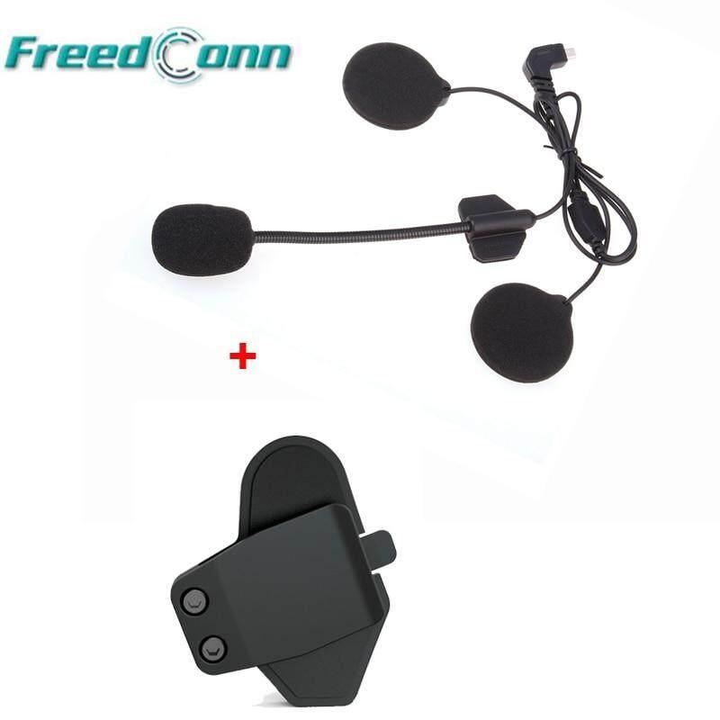 Helmet Headset Mic//Speaker+Clamp for FDC 800M FM Bluetooth Motorcycle Intercom