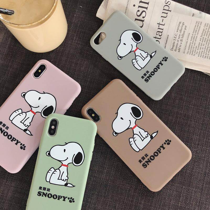 Cartoon Snoopy Soft TPU Phone Case for iPhone 6 6s 7 8 Plus Back Cover for  iPhone X XS Max XR snoopy case for iphone x s max xr,4 Colors