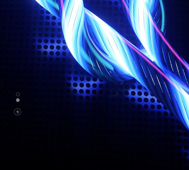 Sạc Điện Thoại Di Động Cable USB Loại C Dòng Sáng Dữ Liệu Dây Cho Samsung Huawei LED Micro Kable Apple Dòng Sạc Nhanh 18