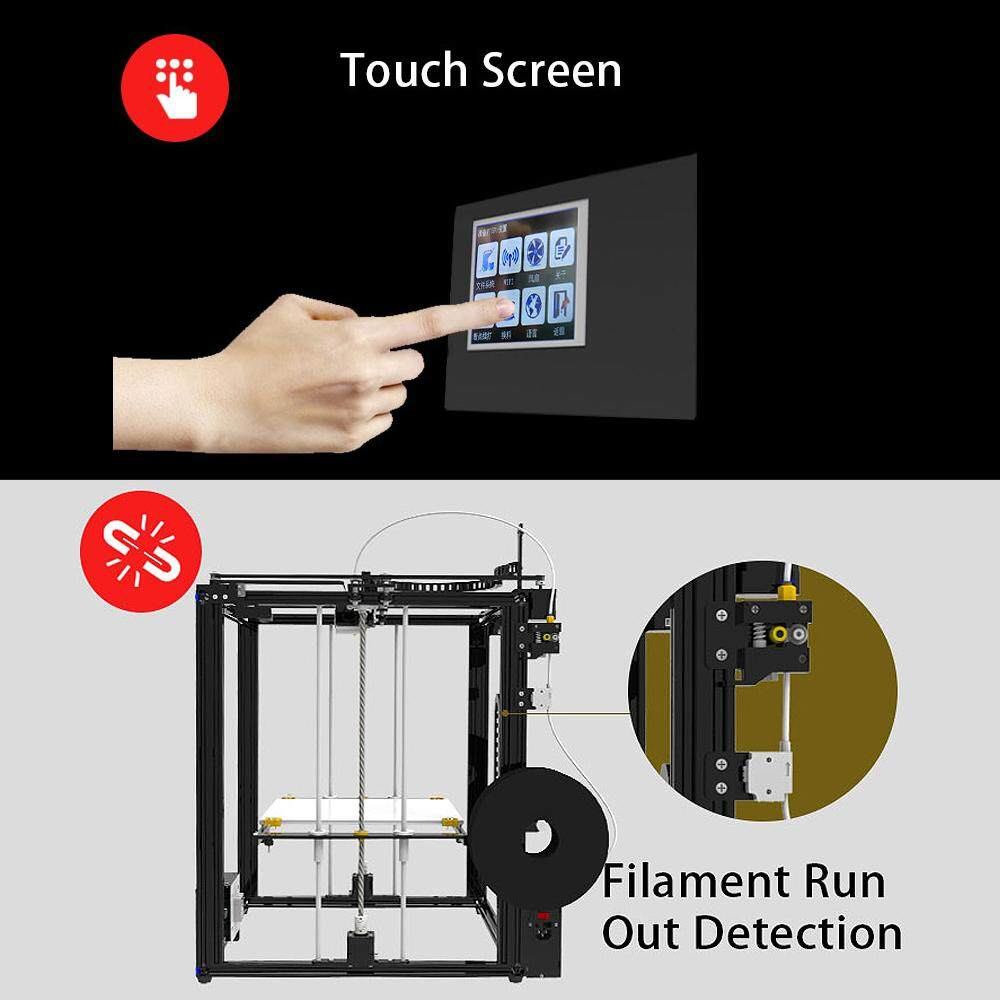 【Free Shipping + Flash Deal 】TRONXY X5ST-400 DIY Aluminum 3D Print Machine  Kit 400*400*400mm Large Printing Size With 3 5 Touch Screen/Power