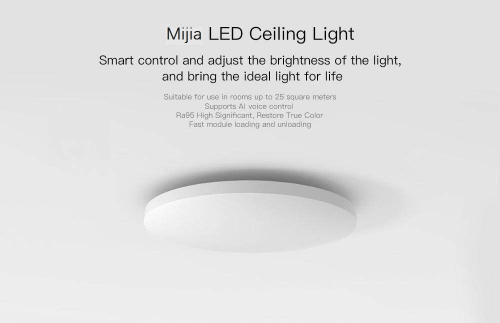 Mijia Smart LED Ceiling Light Support WiFi / Bluetooth 220V - White