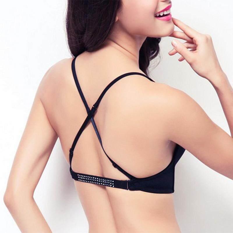 e51a27645 Sexy Satin ECMLN invisible plunge Bra Women Deep U backless bras u ...