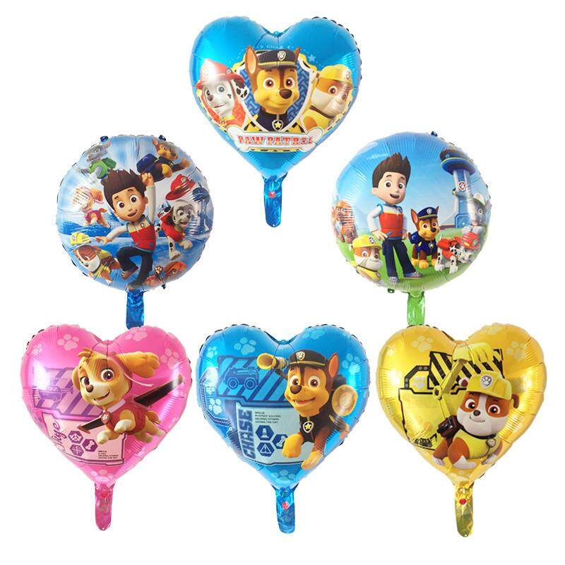 7pcs PAW Patrol Balloons Kids Birthday Party Decorations Chase Skye Rubble  Helium Foil Balloon Toys Event Party Supplies