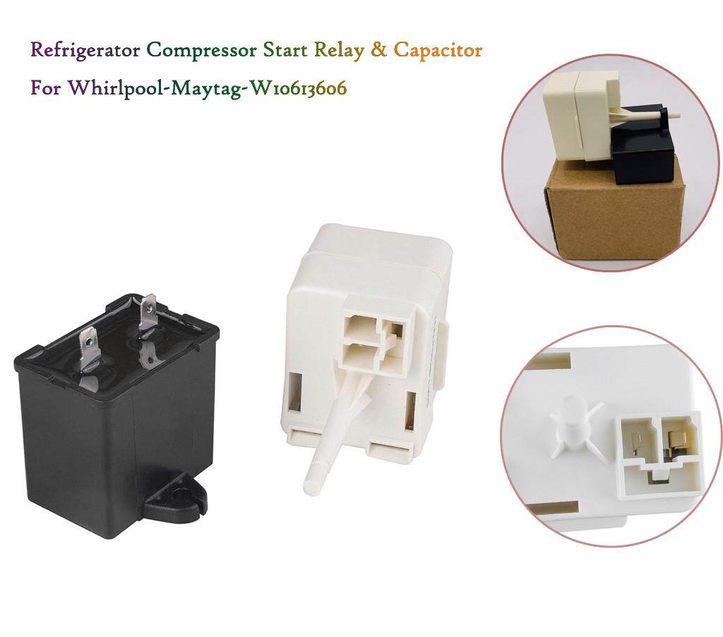 Refrigerator Compressor Start Relay/&Capacitor For Whirlpool W10613606 AP5787784
