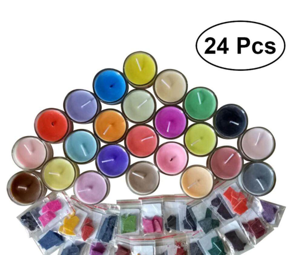 24 Colors Wax Dye Kit Scented Soy Dye For DIY Candle Making | Lazada PH
