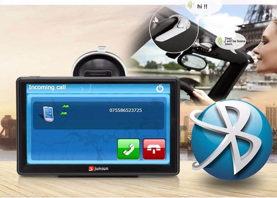 Junsun 7 inch Car GPS Navigation FM Bluetooth Preloaded Map Free Upgrade  For Lifetime