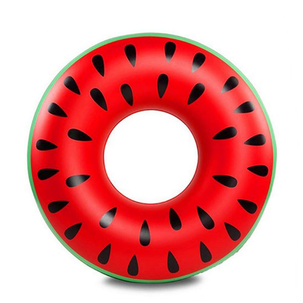 Swimming Pool Beach Inflatable Watermelon Swim Ring Adult Fruit Float Raft Ring