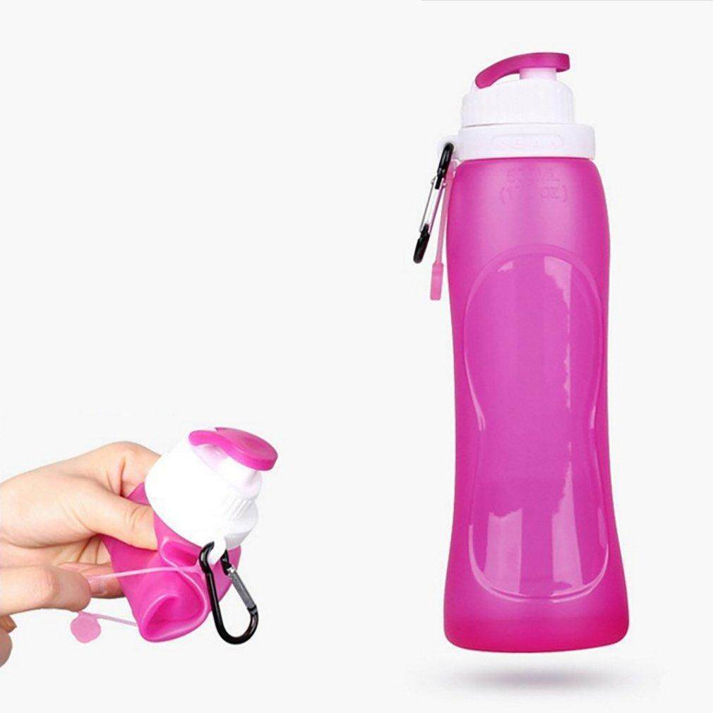 TE Foldable Silicone 500ML Water Bottle For Travel Outdoor Sports