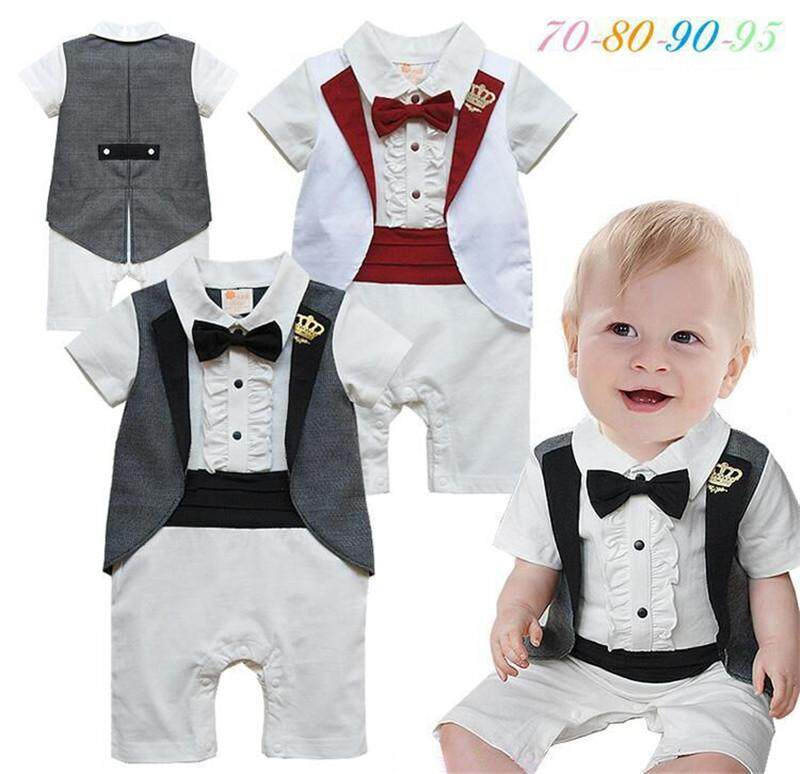 49afcd6ef69ca Specifications of 2019 Newborn Baby Rompers Children Boys Clothing Baby  Clothes Summer Toddler Infant Cotton Gentleman One-piece Clothes Baby Body  Short ...