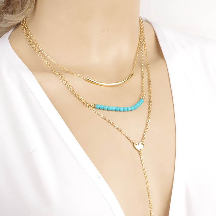 Bead-Pendant-3-Layers-Gold-Chain-Necklaces-Fashionable-Charms-Simple-Chic-Necklace-Ladies-Drop-Long-Tassel