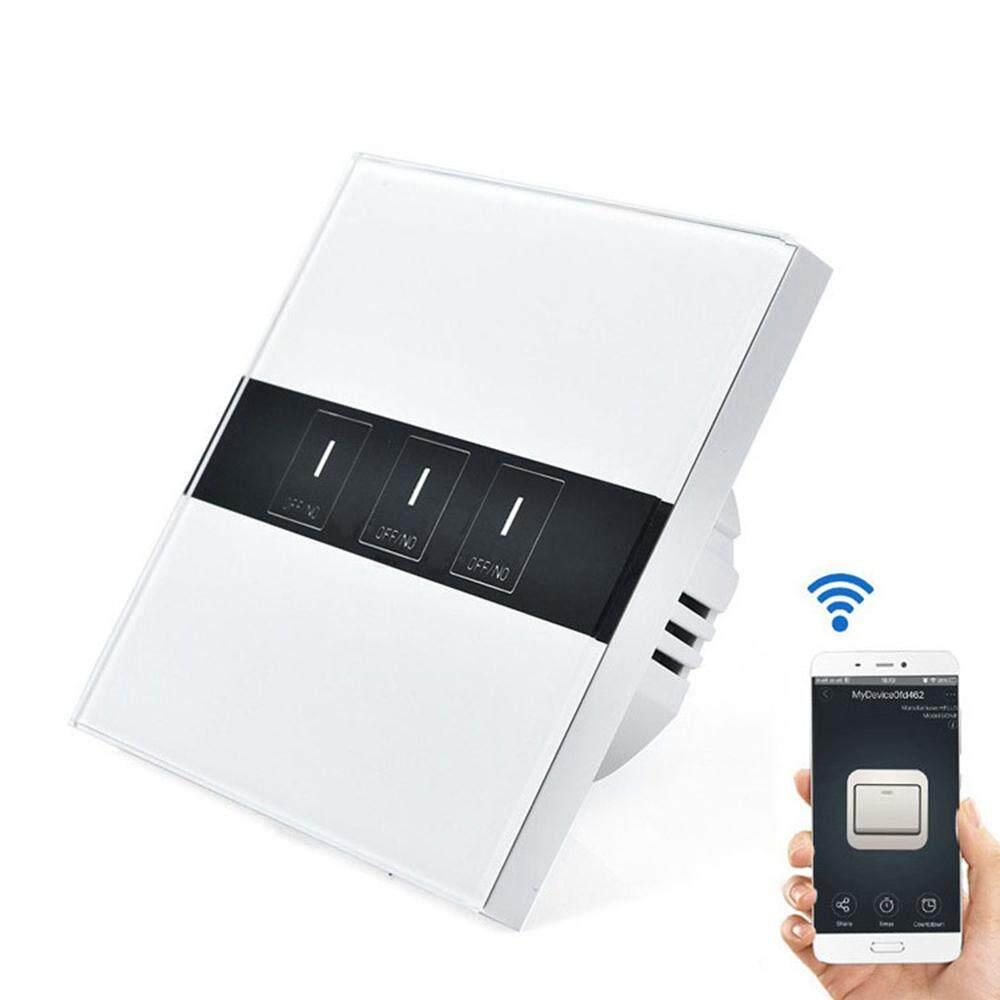 LAGOBUY ( 1-2-3 gang Optional )Smart Switch WiFi Switch Phone App (eWeLink)  Remote Control Work with Amazon Alexa, Google Home Voice Control