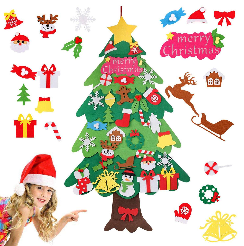 Diy Felt Christmas Tree Set 120cm Tree With 34pcs Detachable Ornaments Kids Xmas Gifts For New Year Handmade Christmas Home Decorations Lazada Ph
