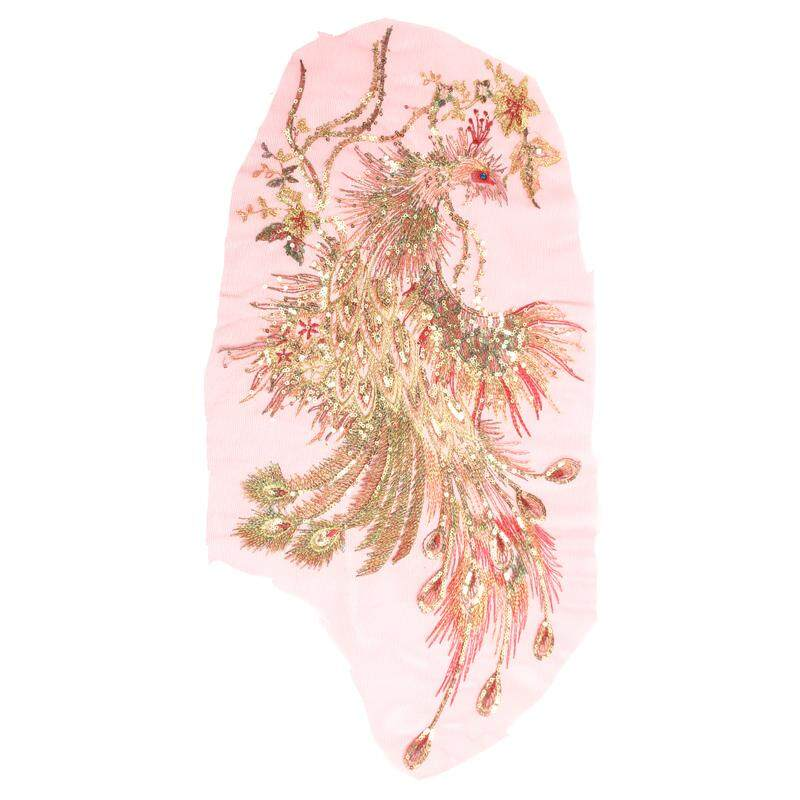 7e73a815619bd DIY Peacock Flower Sequins Embroidered Patches For Clothes Applique  Embroidery Flower Wedding Dress Sewing Trim Garment Decor