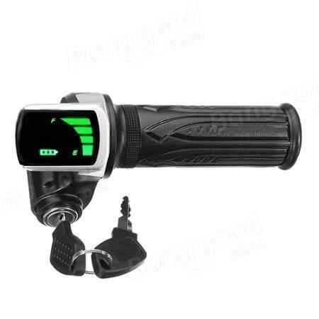 24V/36V/48V LCD Twist Throttle Battery Indicator Power ON OFF For Scooter Electric Bike
